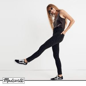 "Madewell 9"" High-Rise Skinny Jeans: Metallic Dot"
